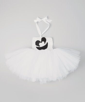 White Ghost Tutu Dress - Infant & Toddler