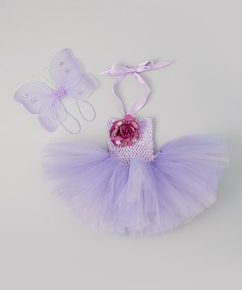 Lavender & Purple Fairy Tutu Dress & Wings - Infant