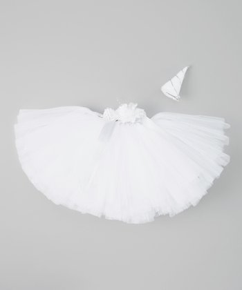 White Unicorn Tutu & Horn Clip - Infant, Toddler & Girls