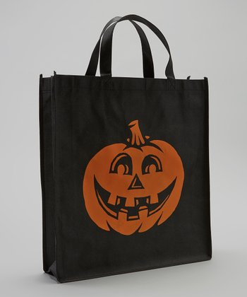 Black & Orange Pumpkin Halloween Trick or Treat Bag