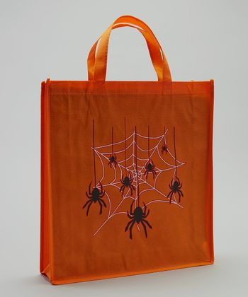 Orange & Black Spider Halloween Trick or Treat Bag