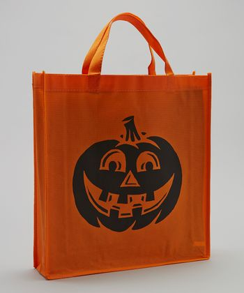 Orange Pumpkin Halloween Trick or Treat Bag