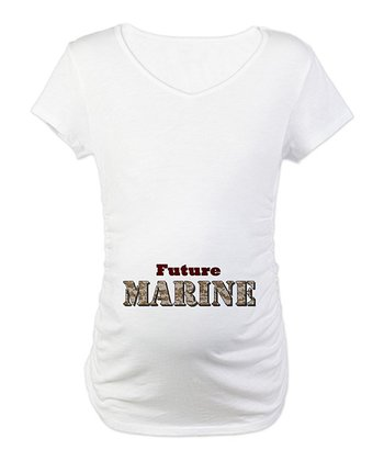 White 'Future Marine' Maternity Tee - Women