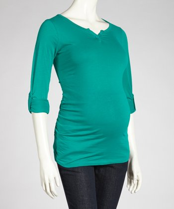Emerald Maternity Henley - Women