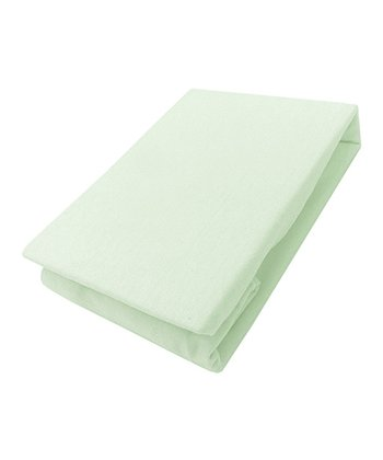 Green Mon Lapin Jersey Knit Crib Sheet