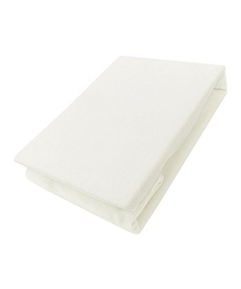 White Mon Lapin Jersey Knit Crib Sheet