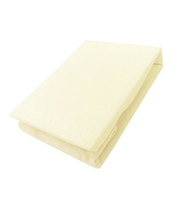Yellow Mon Lapin Jersey Knit Crib Sheet