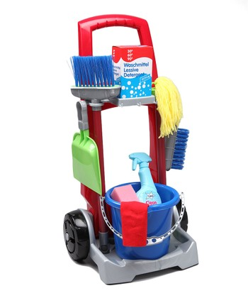 Toy Cleaning Trolley Set