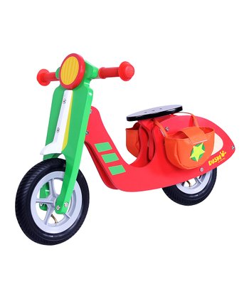 Red & Green Wood Scooter