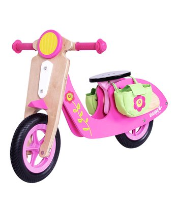 Pink Wood Scooter