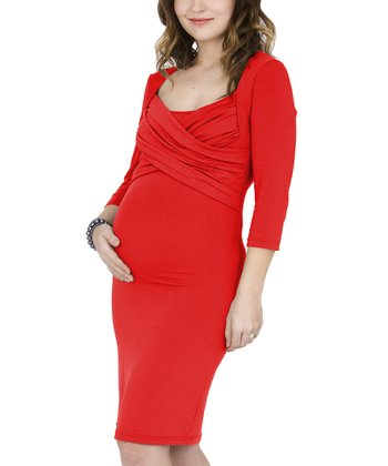 Flame Maternity & Nursing Dress - Women