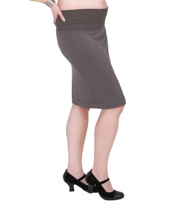 Smoke Mid-Belly Maternity Pencil Skirt - Women
