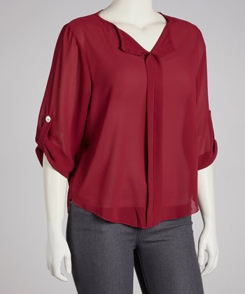 Burgundy Top - Plus