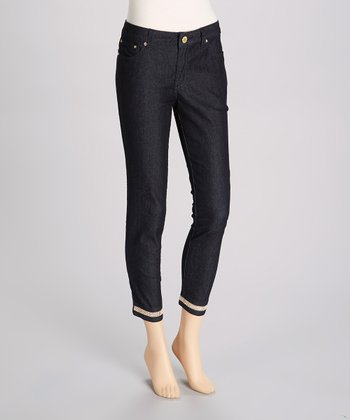 Dark Blue Rhinestone Pants