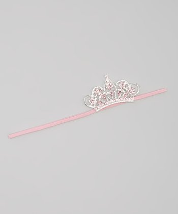 Pink Rhinestone Crown Headband
