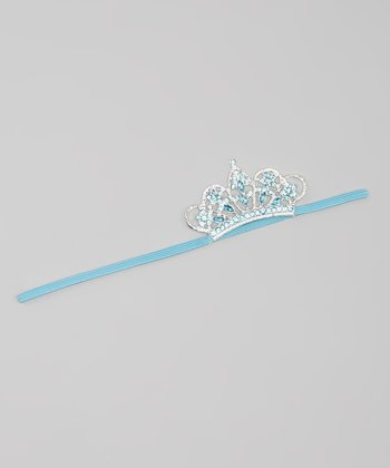Turquoise Rhinestone Crown Headband