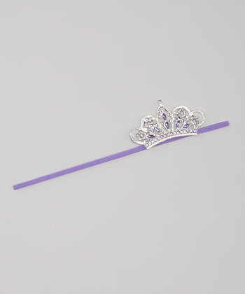 Purple Rhinestone Crown Headband