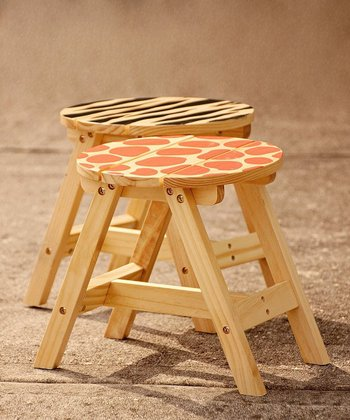 Sunny Safari Outdoor Stool - Set of Two