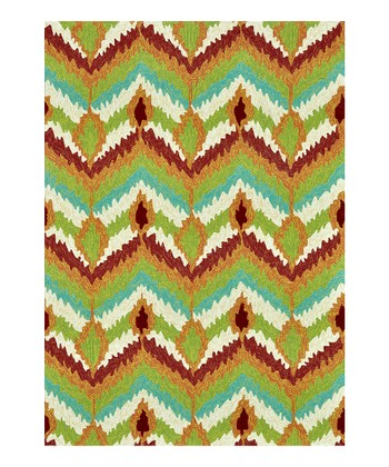 Brown & Green Enzo Indoor/Outdoor Rug