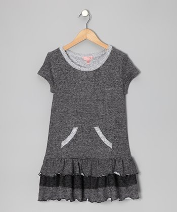 Gray Drop-Waist Dress