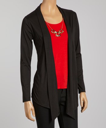 Black & Red Cardigan Set