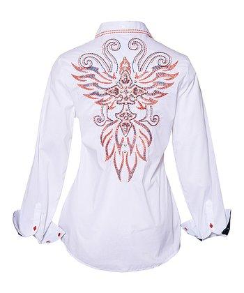 White Sidewinder Button-Up - Women