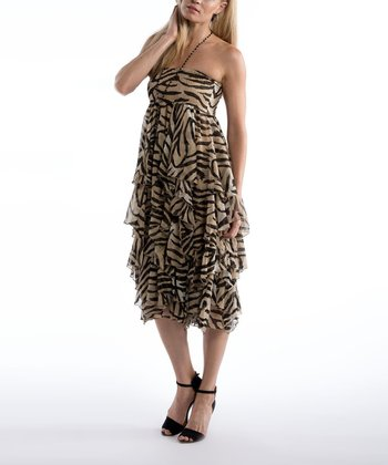 Zebra Print Convertible Skirt - Women & Plus