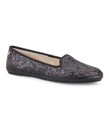 Black Alloway Glitter Slipper - Women