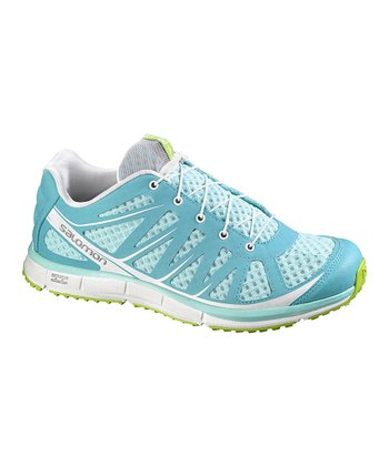 Topaz Blue & Green Kalalau Trail Running Shoe - Women