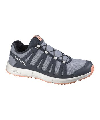 Pearl Gray & Deep Blue Kowloon Trail Running Shoe - Women