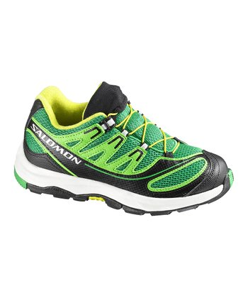 Clover Green & Black XA Pro 2 Trail Running Shoe - Kids