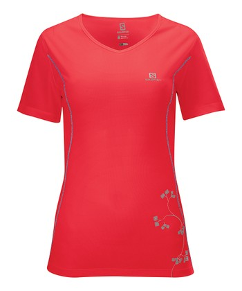 Papaya Stroll Logo Top - Women