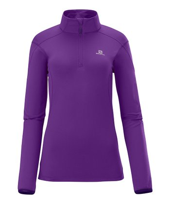 Anemone Purple Discovery HZ Midlayer Pullover - Women