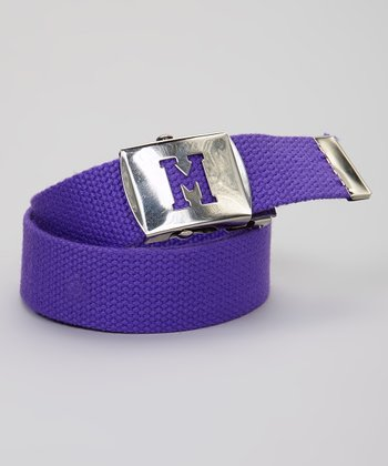 Purple Initial Buckle Belt
