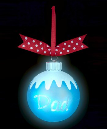 Blue 'Dad' Light-Up Ornament