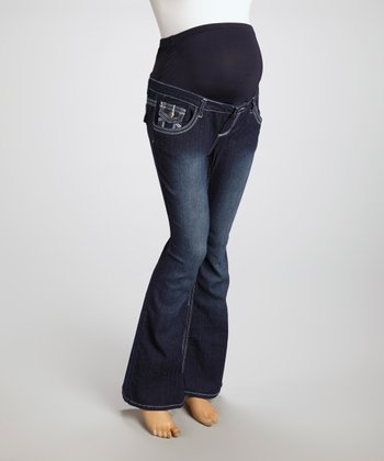 Denim Blue Maternity Bootcut Jeans