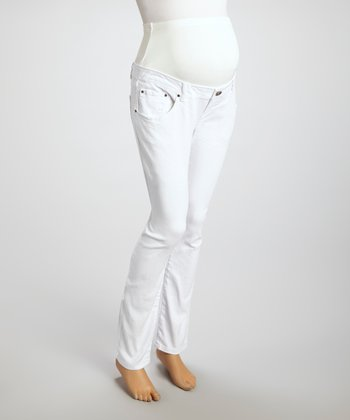 White Bull Denim Maternity Skinny Jeans