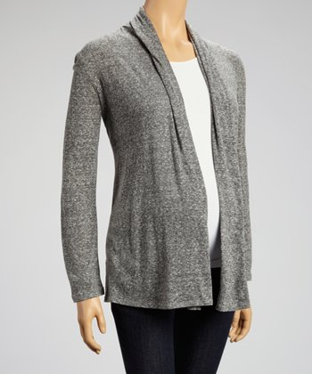 Heather Gray Maternity Open Cardigan