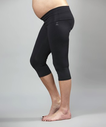 Black Dedication Studio Maternity Capri Pants