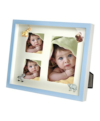 Blue Baby Animal Shadow Box Frame