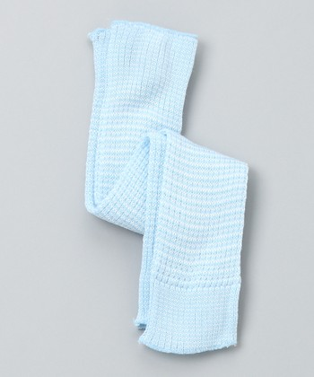 Light Blue & White Leg Warmers