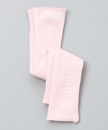 Pink & White Leg Warmers