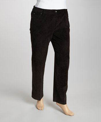 Black Corduroy Pants - Plus
