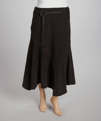 Black Handkerchief Hem Skirt - Plus