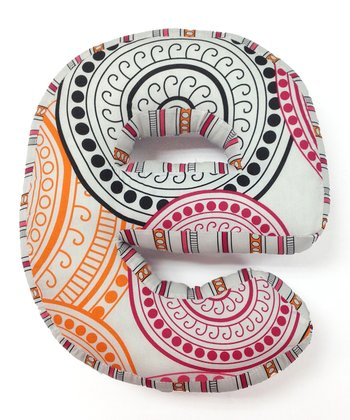 Orange & Pink 'E' Sophia Lolita Letter Pillow
