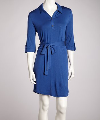 Blue Tie-Front Dress