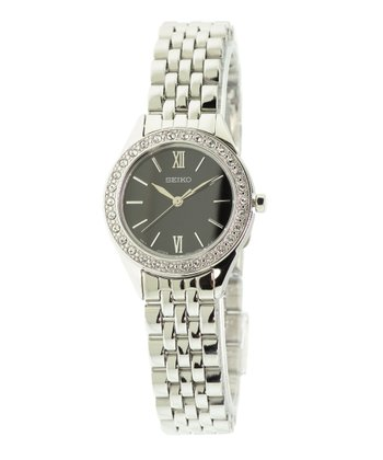 Silver Swarovski Crystal Stainless Steel Watch - Women