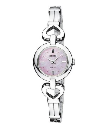 Silver Solar Stainless Steel Bangle Watch - Women