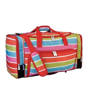 Bright Stripes Weekender Duffel Bag