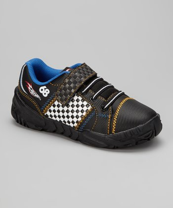 Black & Blue Checker Sneaker